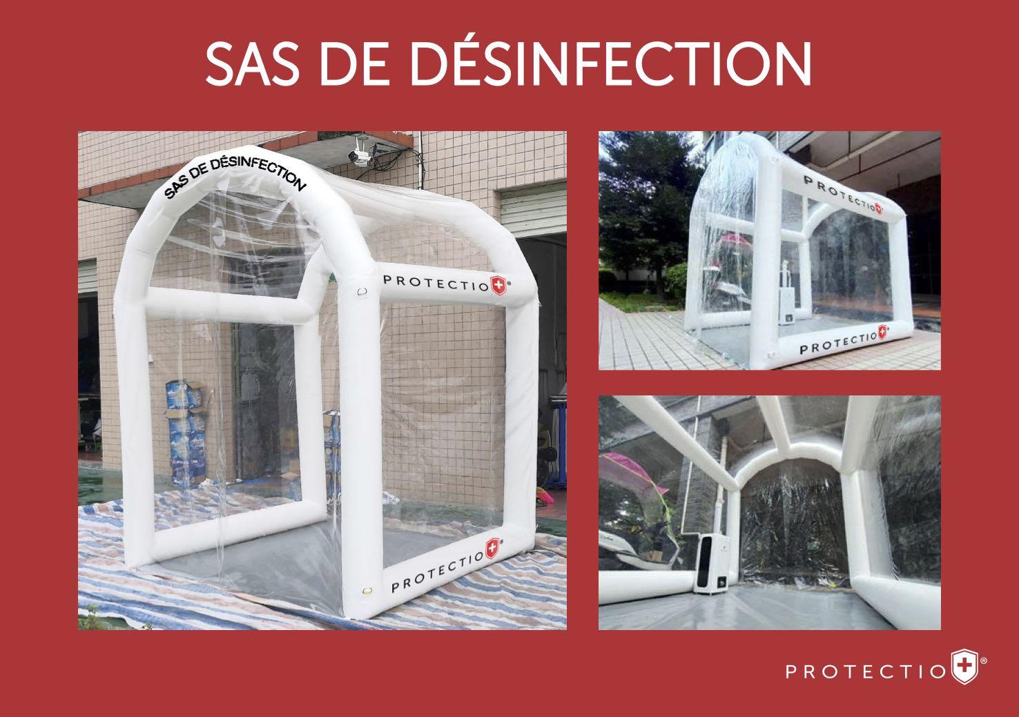 Sas désinfection Safe Channel solution hydroalcoolique Protectio