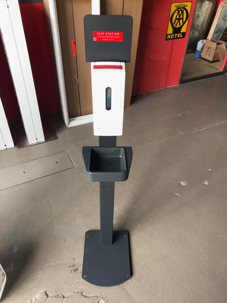 Distributeur solution hydroalcoolique safe station light Protectio