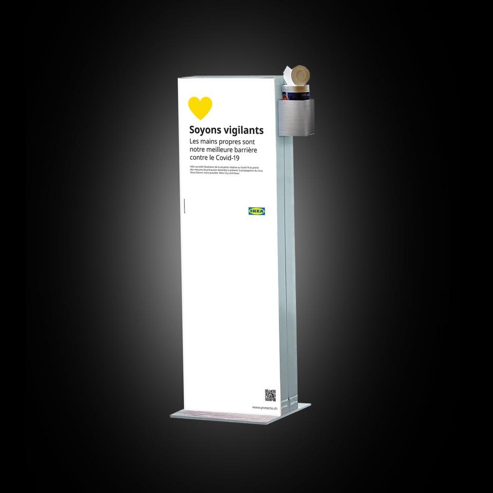 Distributeur solution hydroalcoolique safe station Ikéa Protectio
