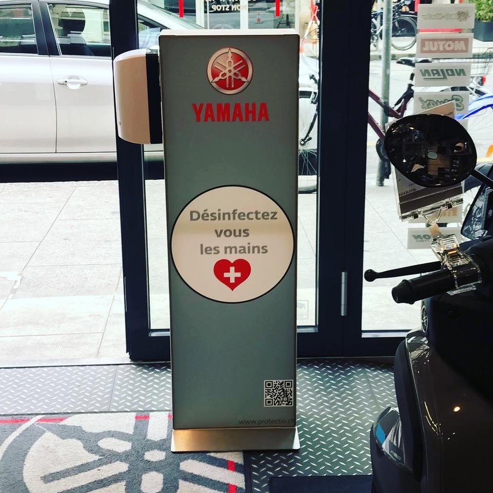 Distributeur solution hydroalcoolique safe station Yamaha Protectio