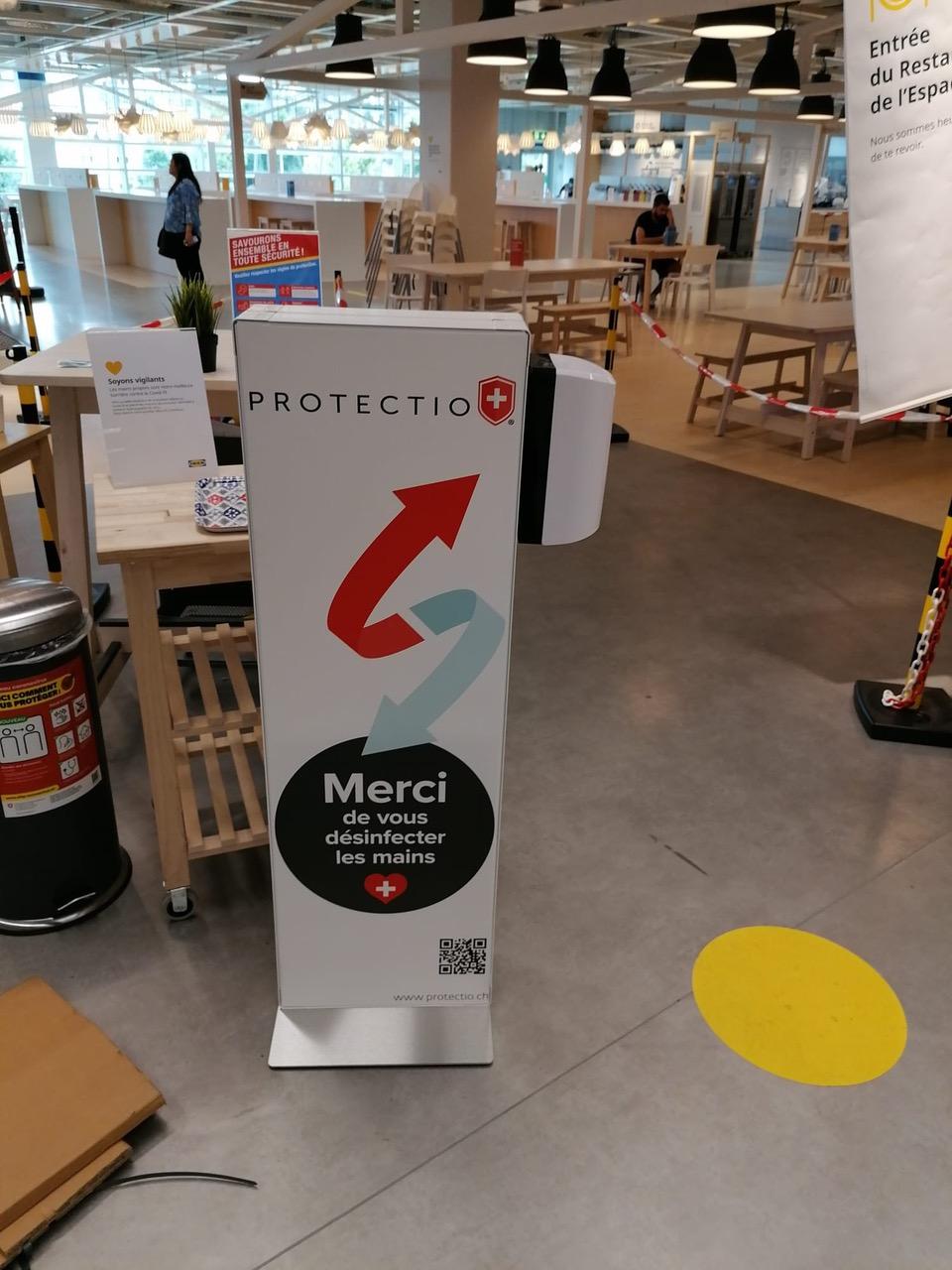 Distributeur solution hydroalcoolique safe station Protectio