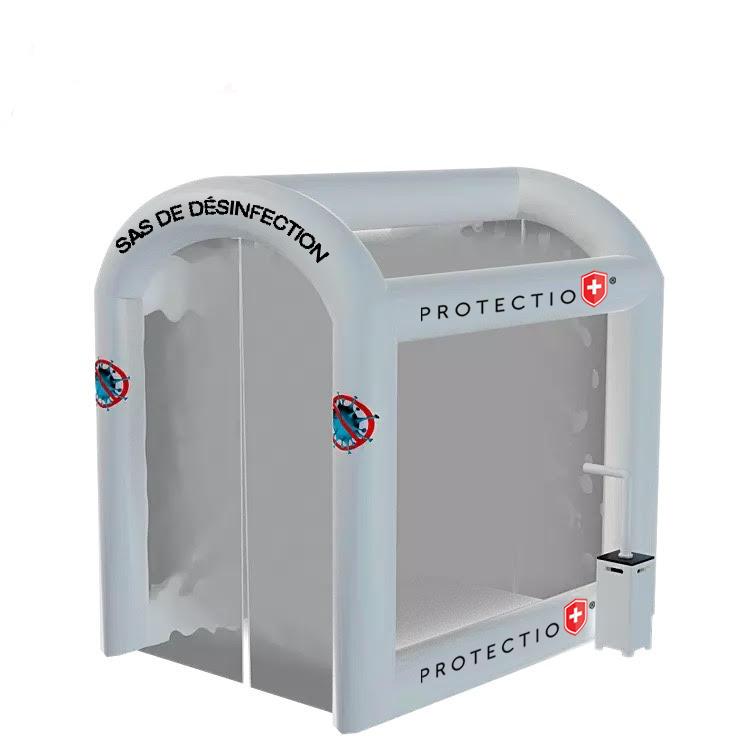 Safe channel sas désinfection hydroalcoolique protectio