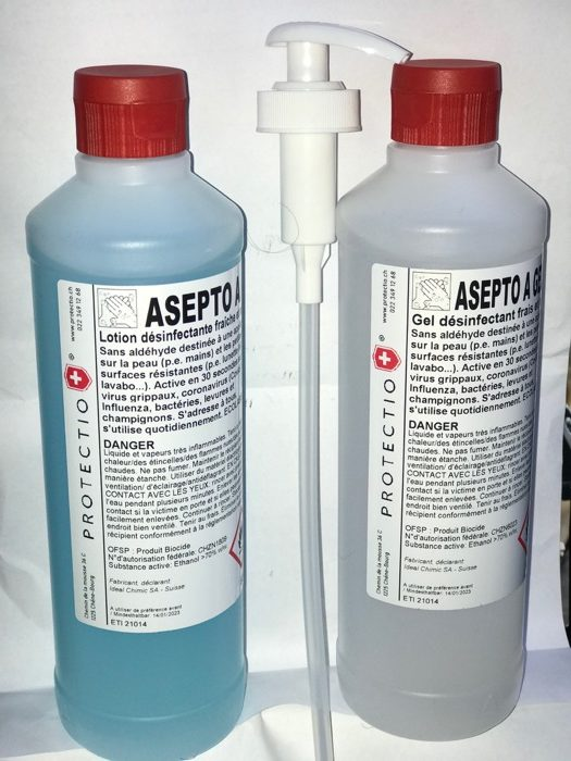 Desinfectant gel eco label suisse protectio